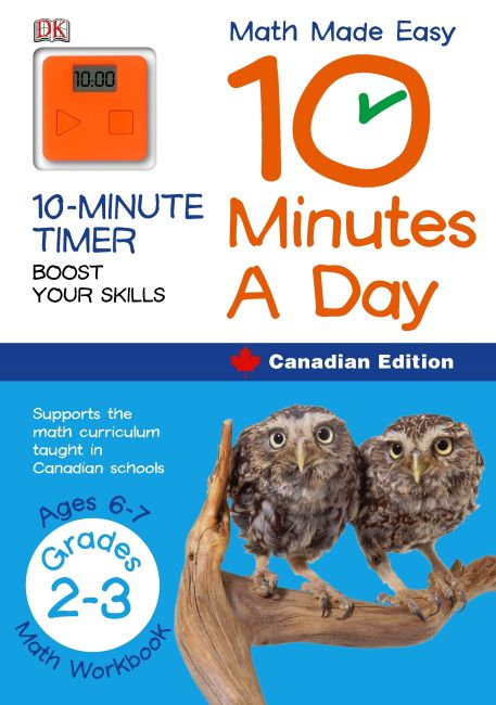 Paperback cover of Math Made Easy 10 Minutes A Day Grade 2 3