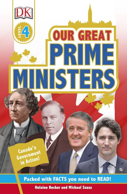Paperback cover of DK Readers Our Great Prime Ministers Level 4