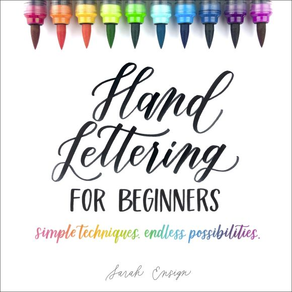 Paperback cover of Hand Lettering for Beginners