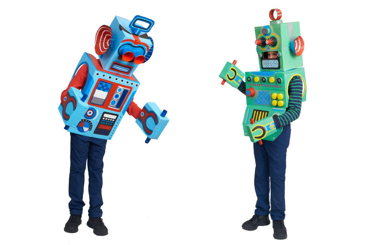 How To Make Box Robots Kids Cardboard Box Craft Project Dk Uk