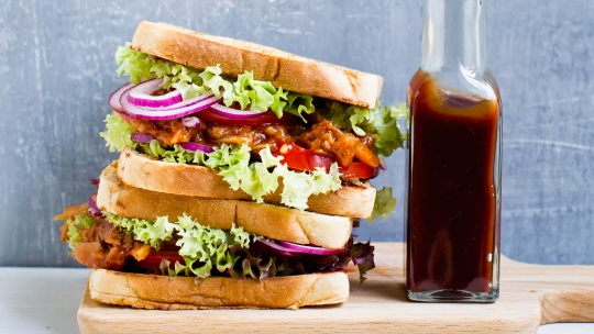 "Barbecue ""Pulled"" Jackfruit Vegan Sandwich Recipe"