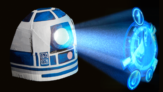 Star Wars™ Craft & Science Project: R2-D2 Holoprojector