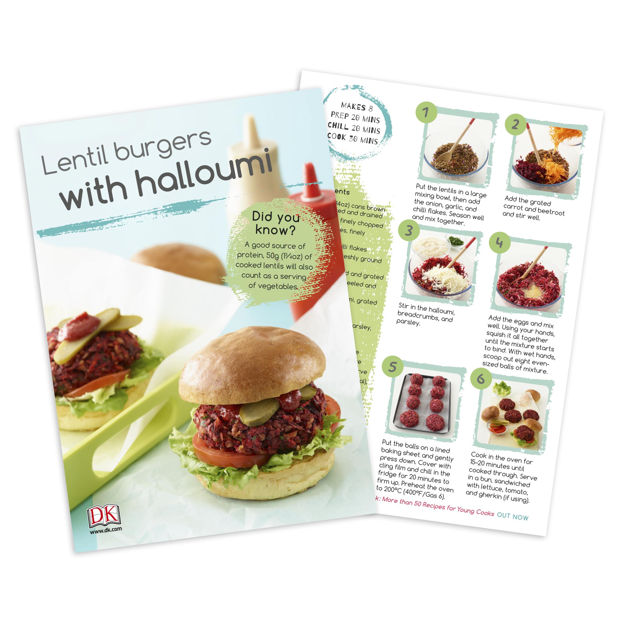 The Vegetarian Cookbook recipe card
