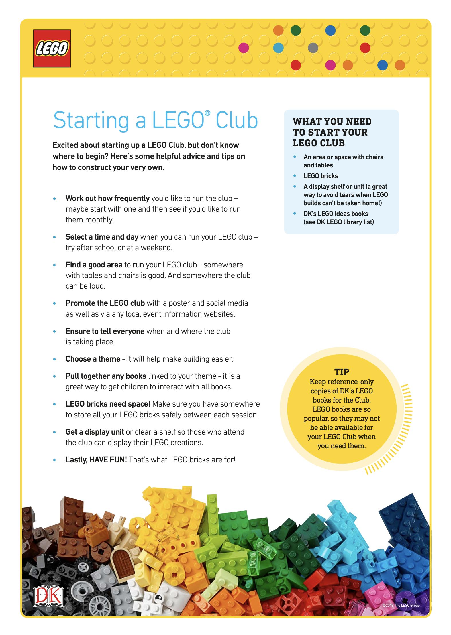 LEGO Pack activity sheet pdf