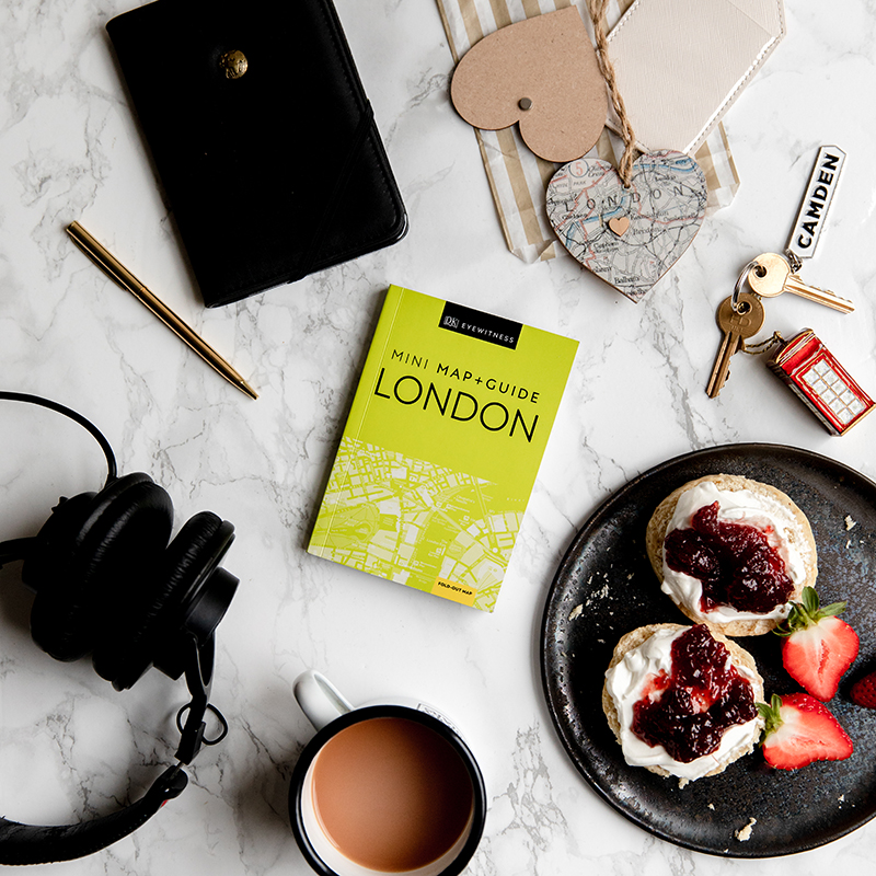 DK Travels London Flatlay