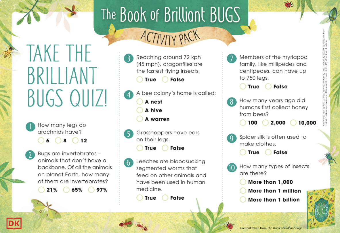 Brilliant Book Of Bugs Activity Pack- Colour