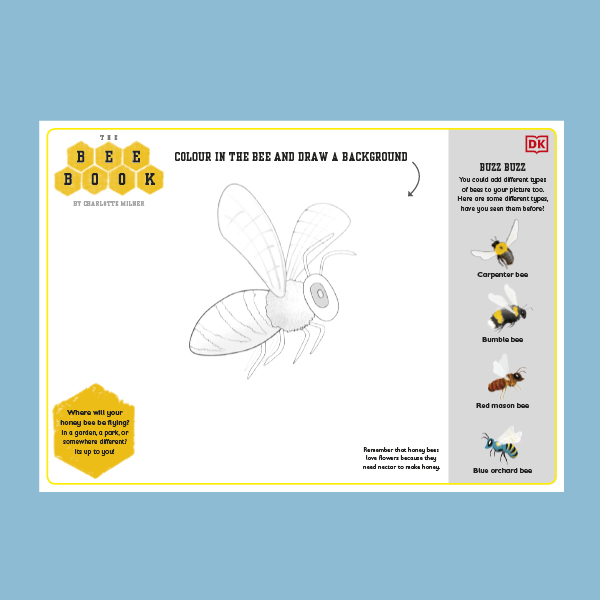 The Bee Book Colouring Sheet