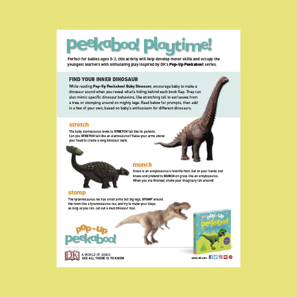 Activity Sheet Pop Up Peekaboo Baby Dinosaur pdf