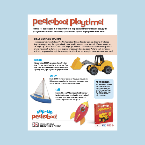 Activity Sheet: Pop-Up Peekaboo! Things That Go pdf