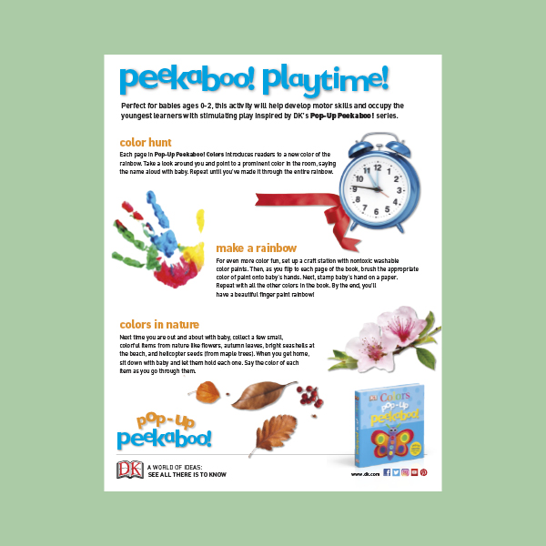 Activity Sheet: Pop-Up Peekaboo! Colors