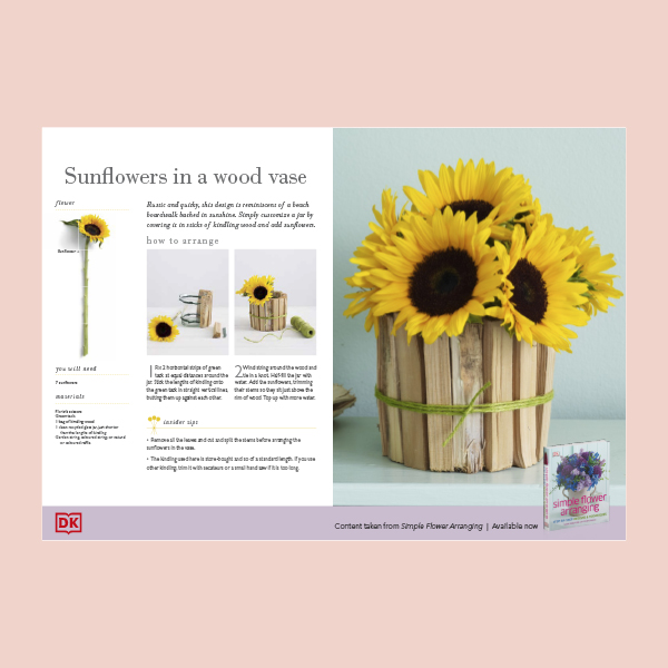 Sunflowers in a Wood Vase pdf