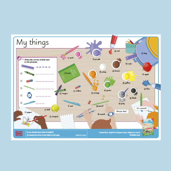 English for Everyone Junior Pack Activity Sheet
