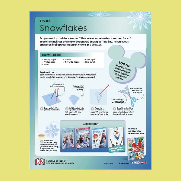 Activity Sheet: Frozen 2 Snowflake Activity