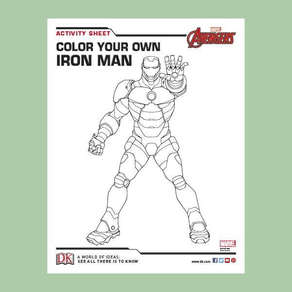 Iron Man Coloring Sheet pdf