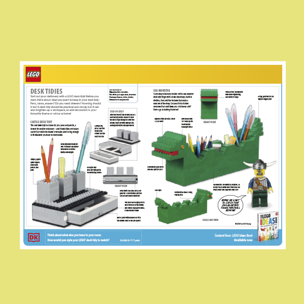 Create a LEGO Tidy Desk pdf