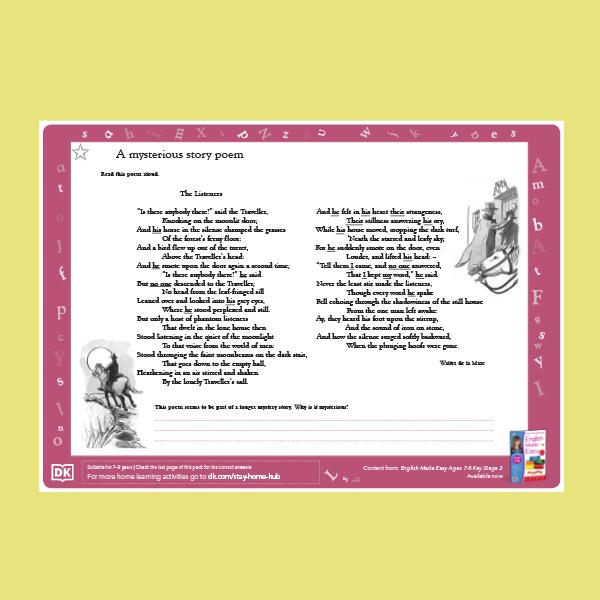 Enl=glish - A Mysterious Poem Acitivty pdf
