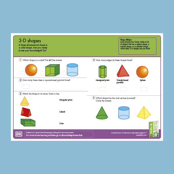 Maths Properties of 3D shapes pdf