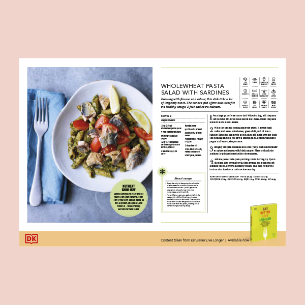 Wholewheat Pasta Salad with Sardines Recipe pdf