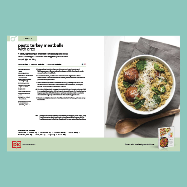 Pesto Turkey Meatballs with Orzo pdf