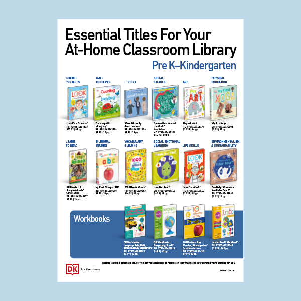 At-Home Library Essentials: Pre-K - Kindergarten