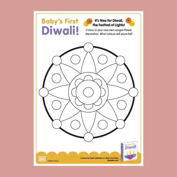 Baby's First Diwali Colouring Sheet pdf