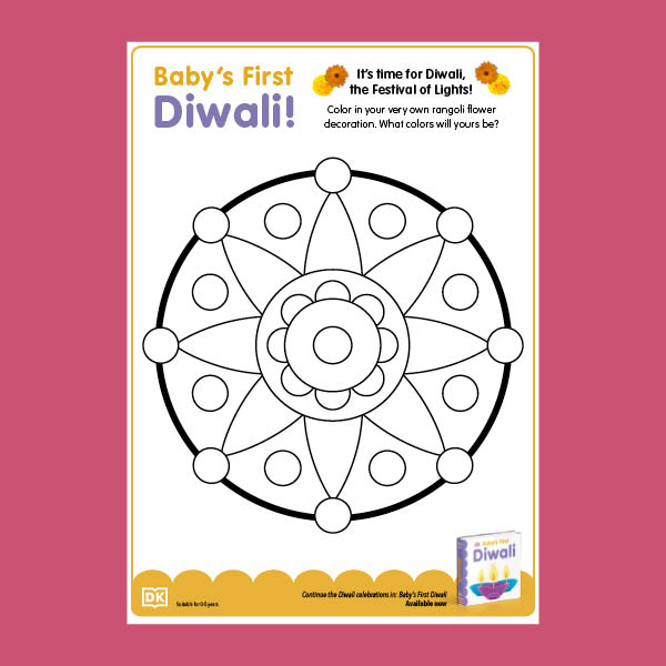 Baby's First Diwali Coloring Sheet pdf
