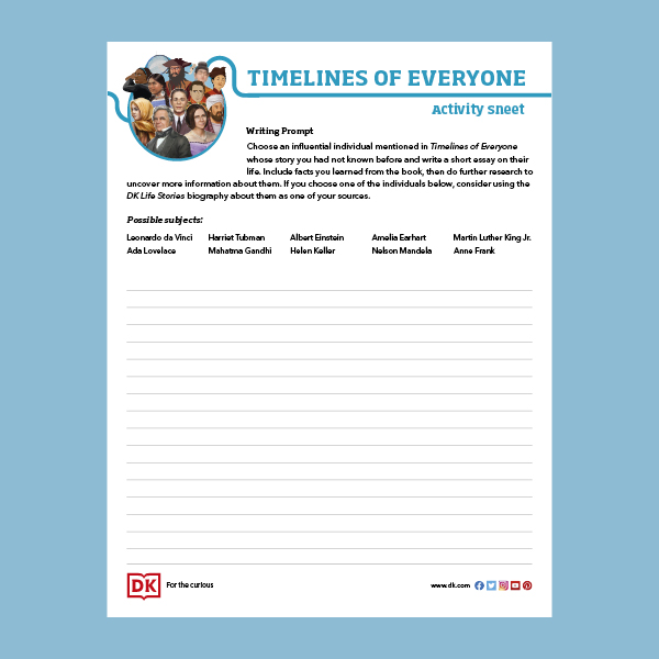 Timelines of Everyone Activity Sheet pdf