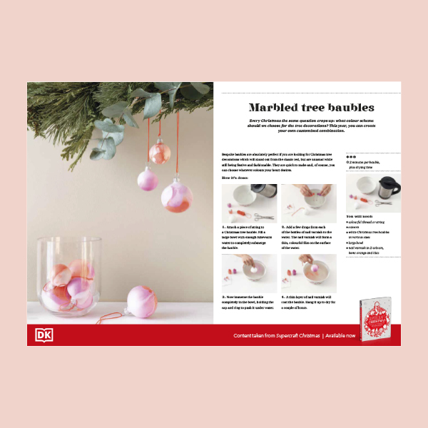 Christmas Craft - marbled baubles pdf