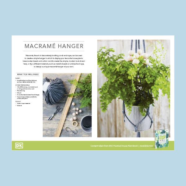 Make a macramé hanger pdf