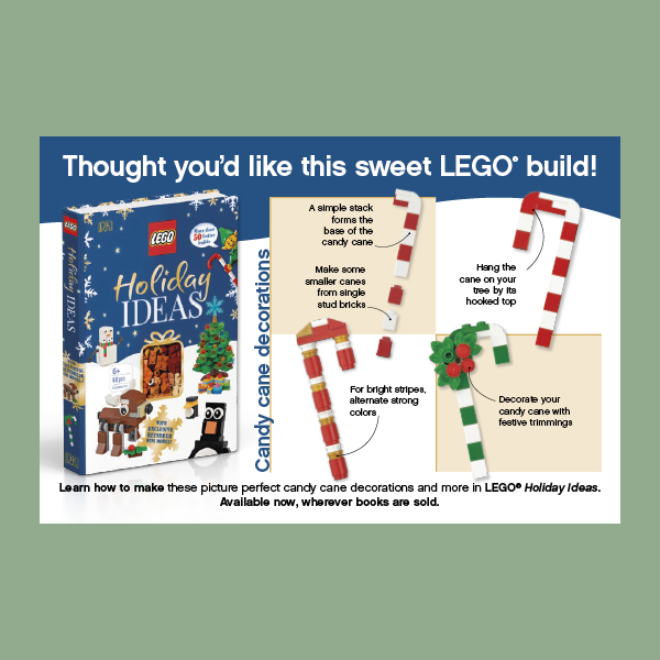 LEGO Candy Cane Build Postcard pdf