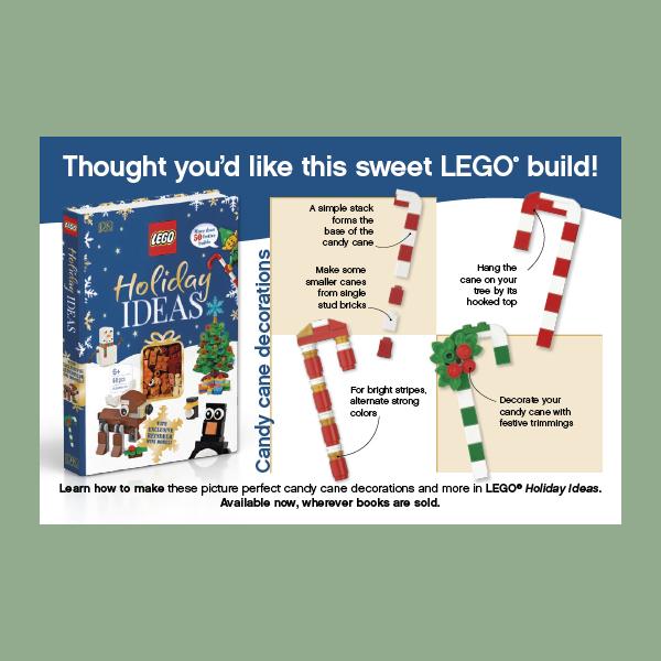 LEGO Candy Cane Build Postcard pdf