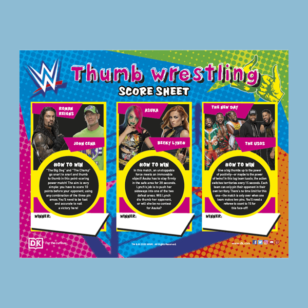 WWE Thumb Wrestling Competition pdf
