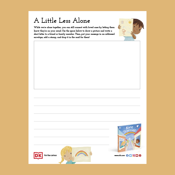 A Little Less Alone Drawing Activity pdf