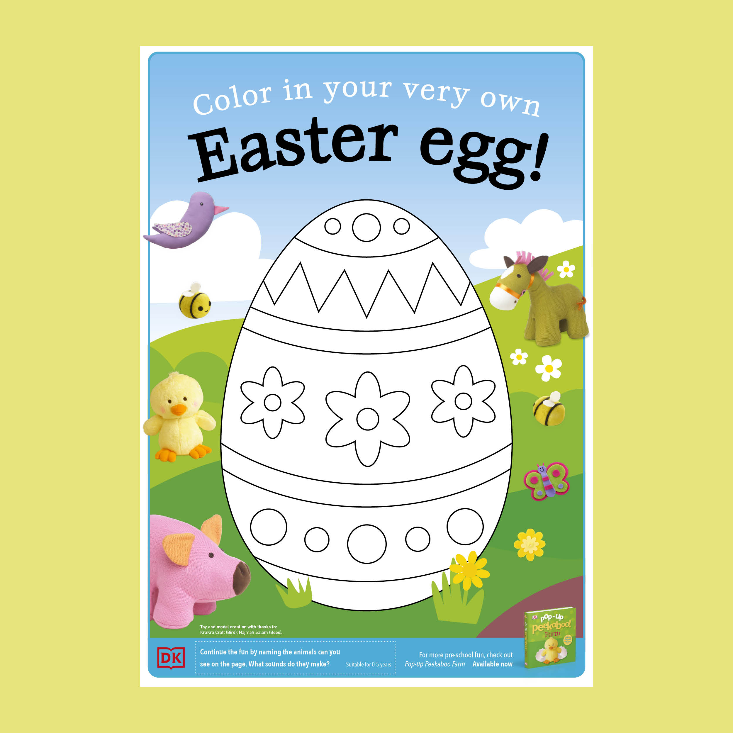 Color in Easter Egg Activity Pack