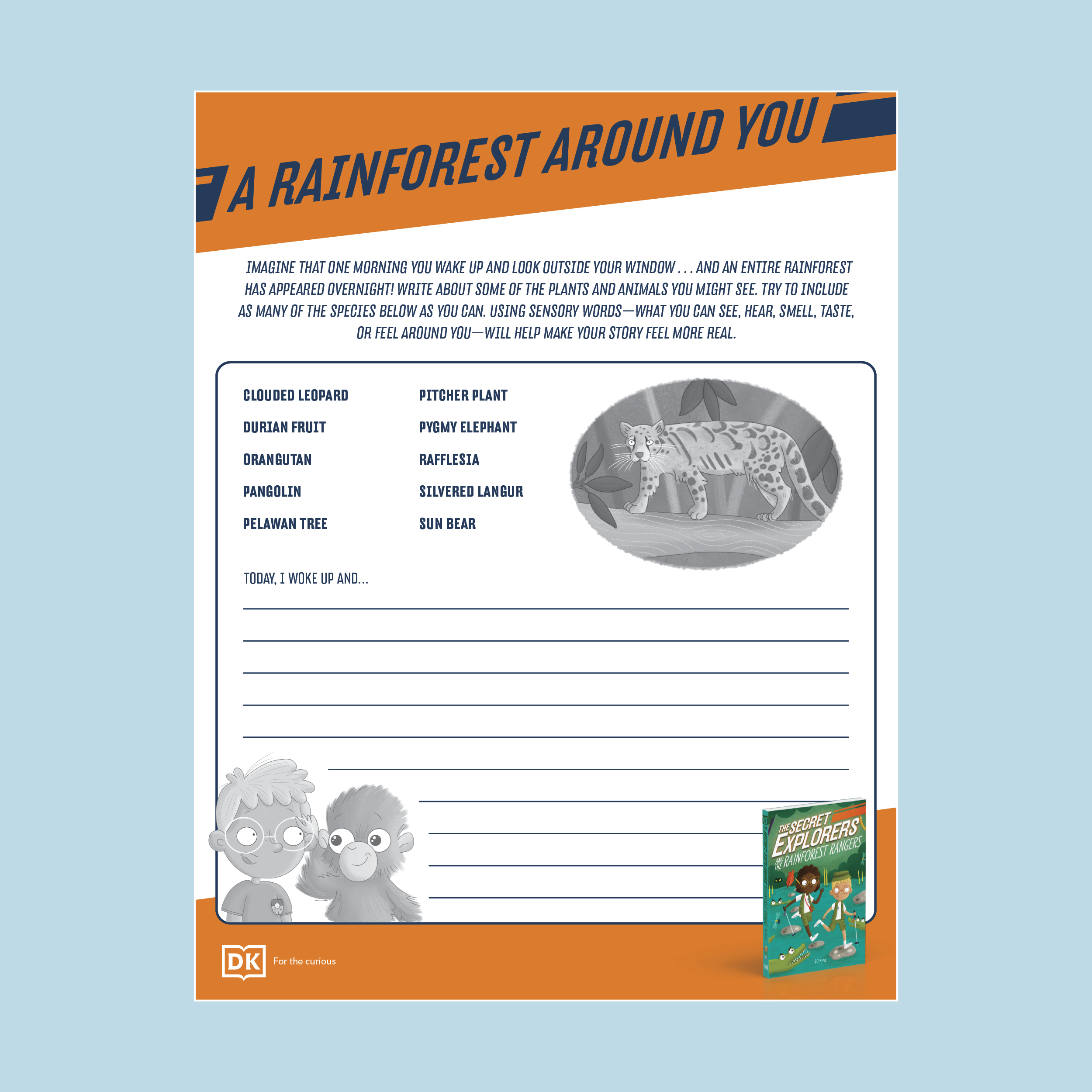 The Secret Explorers Rainforest & Volcano Activity Sheet pdf