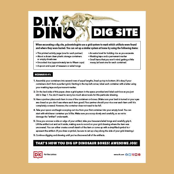 DIY Dinosaur Dig Activity Sheet pdf