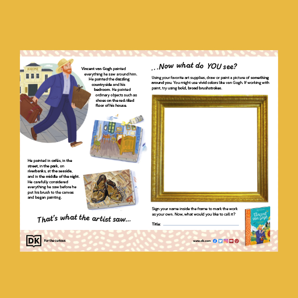 What the Artist Saw Activity Sheet pdf