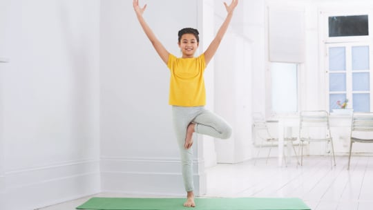 Yoga For Kids: How to Do Tree Pose