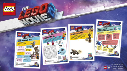 THE LEGO® MOVIE 2™: Downloadable Activity Sheets