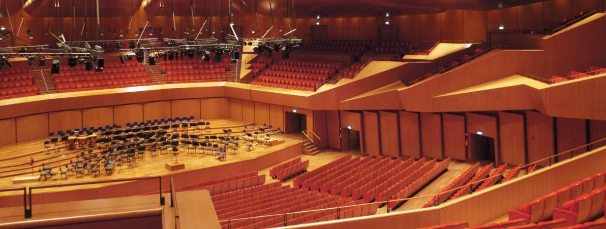 Auditorium parco della musica rome dk eyewitness travel for Auditorium parco della musica sala santa cecilia