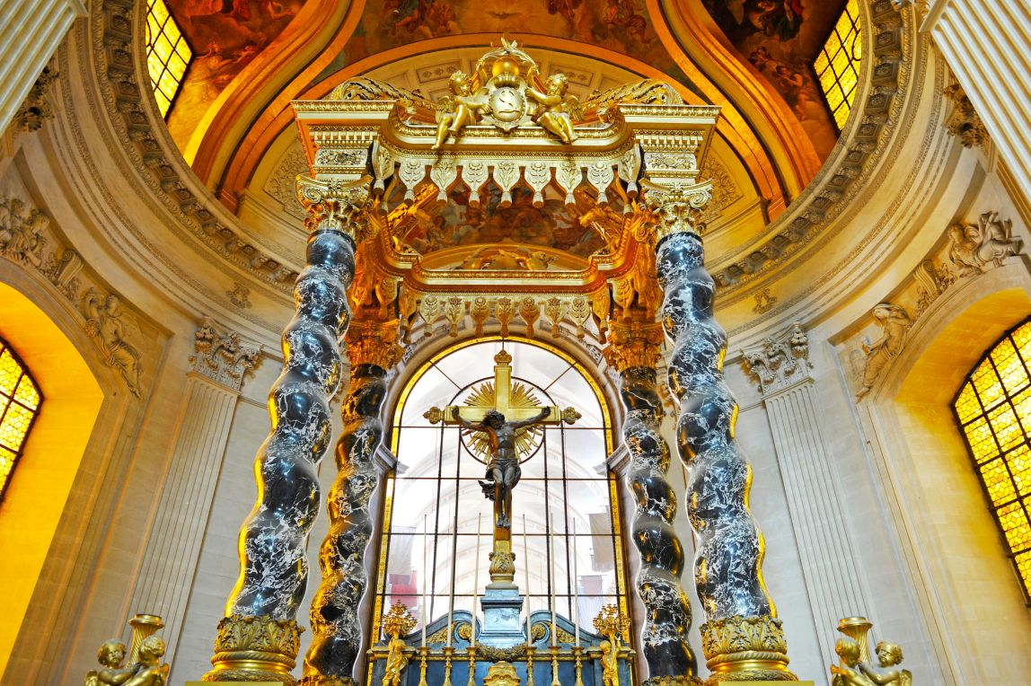 Interior, Altar And Gilded Dome, Dome Des Invalides Or Eglise Du Dome  Church,