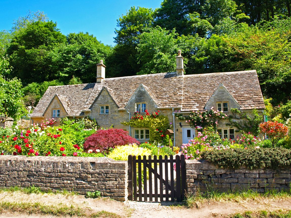 picturesque city homes and gardens. English Summer in Village of Bibury The Prettiest Small Towns the UK