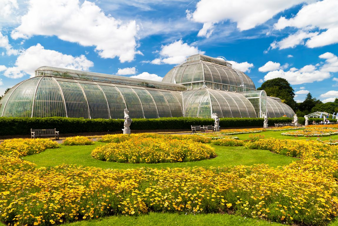 Most beautiful gardens - Greenhouse At Kew Gardens In London On A Beautiful Summer Day