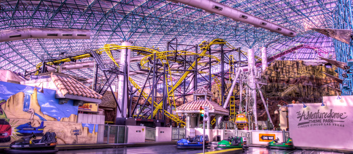 Adventuredome is Located Inside the Circus Circus Hotel and Casino in Las Vegas. It's on the North end of the strip near where the Stardust Hotel used to be. It 3/5().