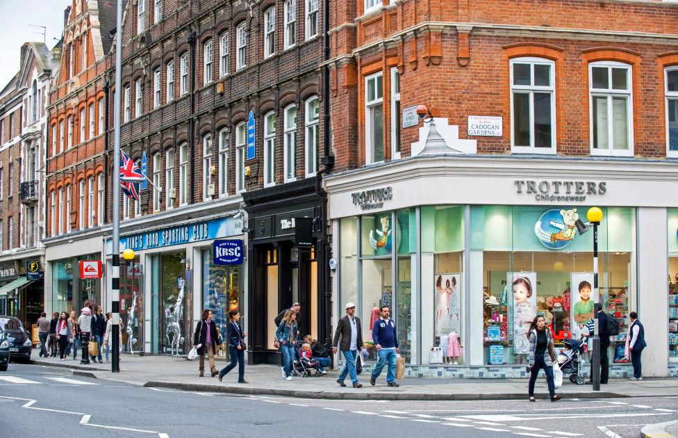King s road london dk eyewitness travel for Furniture kings road