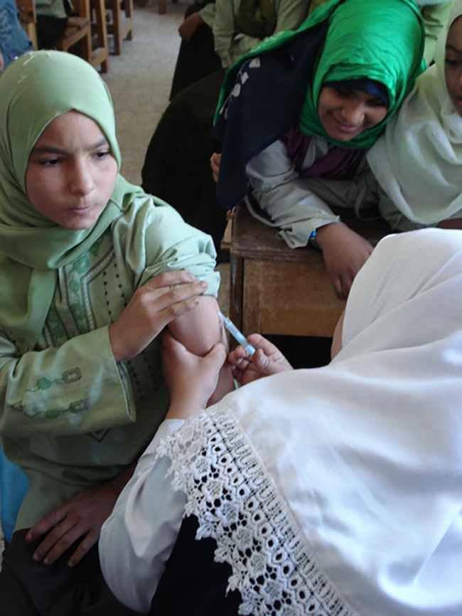 Wajib vaksin MR bagi anak 10-20 tahun di Mesir. Sumber: C Alonso, PHIL CDC, 2009.