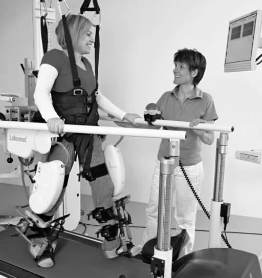 Alat robotik untuk rehabilitasi gait pasien. Sumber: anonim, Openi, 2011.