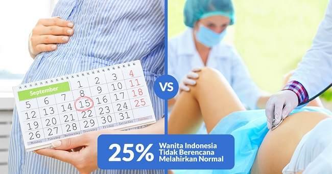 25% Wanita Indonesia Tidak Berencana Melahirkan Normal