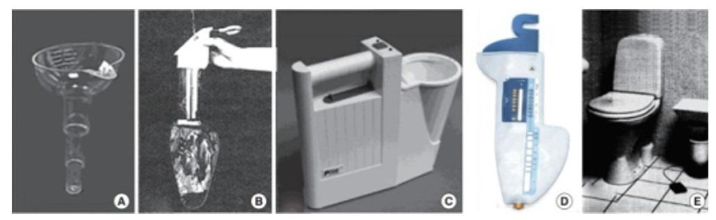 Gambar 1. (A) Uflow Meter, (B) Peakometer, (C) P-flow meter, (D) Qsingle device, (E) Da Capo. Sumber Gambar: Openi, 2019