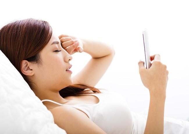 Irritated and injured red eye.